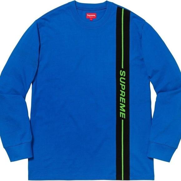 abdb39813c88 Supreme vertical logo stripe L S Top Men s Sweater